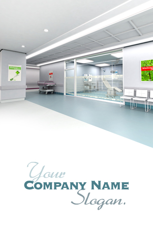 upscale:  3D rendering of an upscale modern clinic