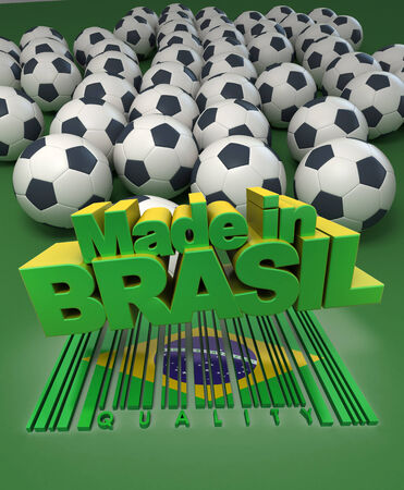 worldcup: Soccer balls against a green background