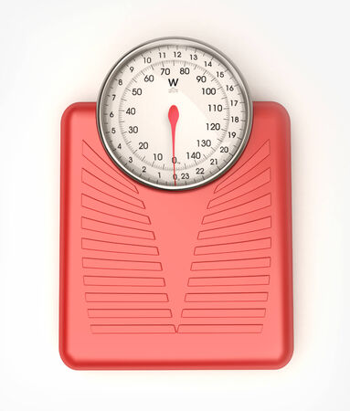 3D rendering of a blue weight scale  photo