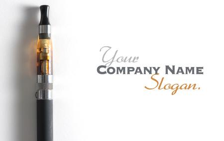 Rendu 3D d'une e-cigarette, avec beaucoup d'espace copie photo