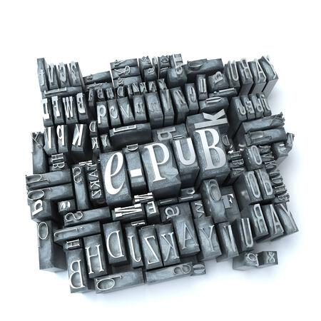 typescript: The word epub written in typescript letters