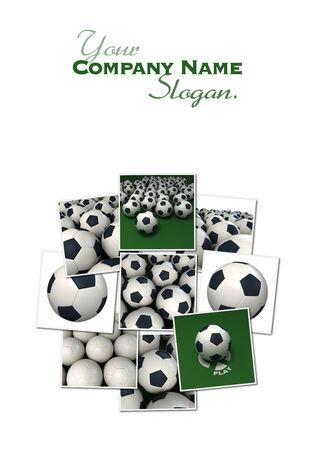 renderings: Collection of football 3D renderings
