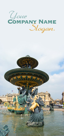 Fountain in Place de la Concorde, Paris, France photo