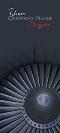 3D rendering of a jet turbine with lots of copy space photo