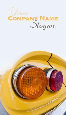 taillight: Vintage car�s taillight