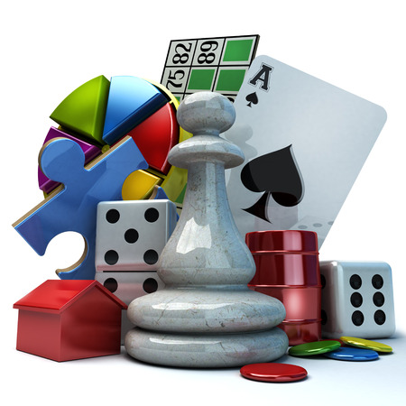 Composition with different games elements photo