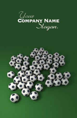 futbol soccer: Soccer balls against a green background