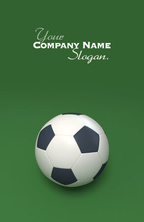 worldcup: 3D rendering of a soccer ball against a green background Stock Photo