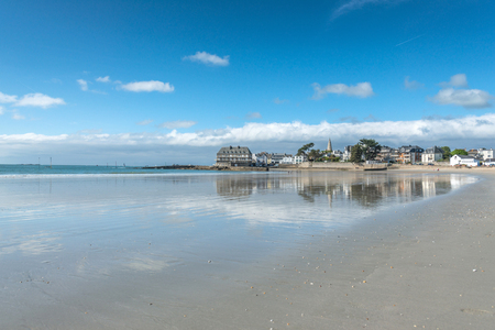 plage: Beautiful view of Larmor Plage, in Britany France