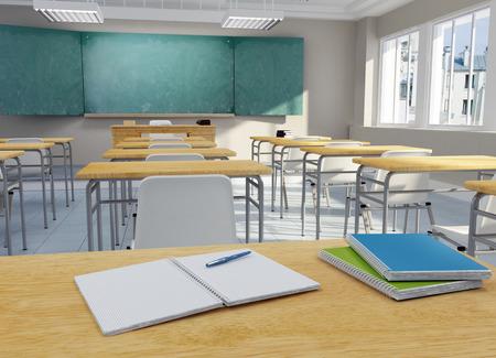 escuelas: Representaci�n 3D de un aula de la escuela