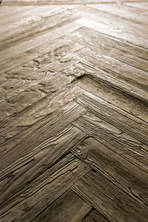 splintered: Shot on an old wooden parquet floor