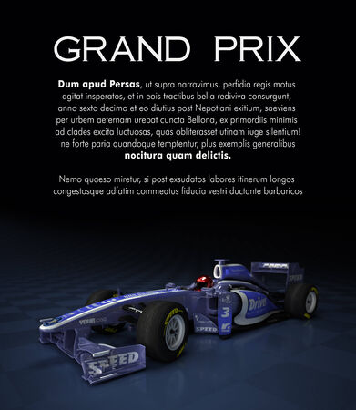 indy: Customizable image with text and a sports race car with fake logos Stock Photo
