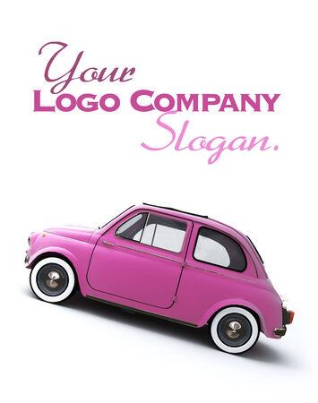 italian car: Pink retro Italian car