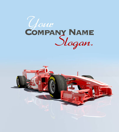 racecar: 3D rendering of a Race car  Stock Photo