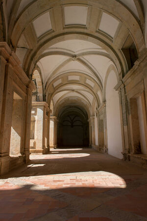 templars: Cloister on Christ Monastery, in Tomar, Portugal