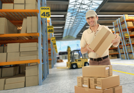 worker on a distribution warehouse photo