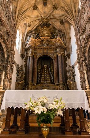 retablo: Retablo de una iglesia g�tica portuguesa,