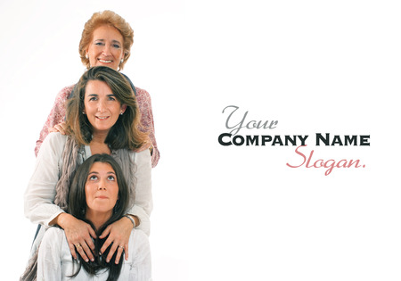 Women of three generations of the same family with lots of copy space Standard-Bild