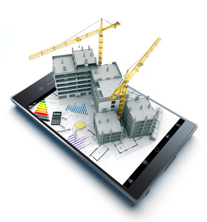 Handheld device with the whole process of Real Estate investment, from construction, to credit