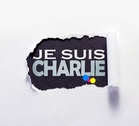 murdering: Grunge black sign with the words I am Charlie in French