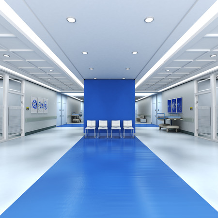 hospital interior: 3D rendering of a hospital interior with lots of copy space