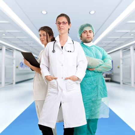 Three medical professionals at the hospital photo