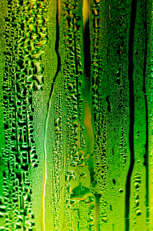 water drip: Wet glass with drops ideal for backgrounds and textures Stock Photo