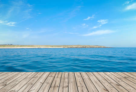 Boardwalk by the ocean, ideal for backgrounds