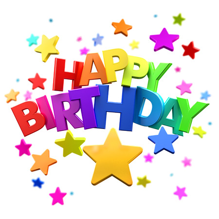 3d rendering of a happy birthday greeting message with stars stock 3d rendering of a happy birthday greeting message with stars stock photo 38897937 m4hsunfo