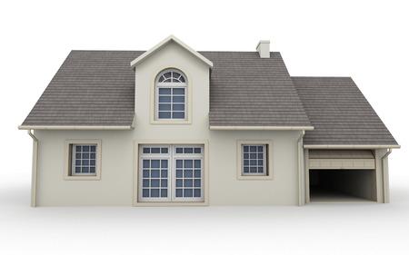 고전적인 집의 3D 렌더링 스톡 콘텐츠