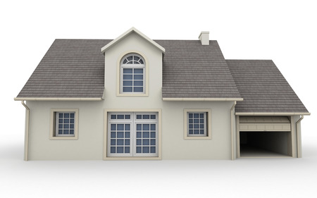 3D rendering of a classic house
