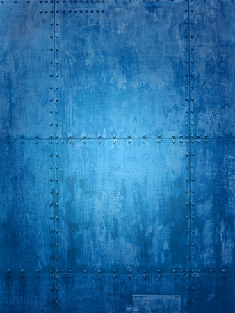 texture backgrounds: Blue ship plate texture ideal for backgrounds Stock Photo