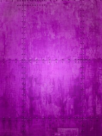 rust metal: Purple ship plate texture ideal for backgrounds Stock Photo