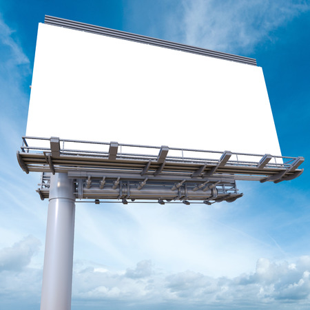 advertisement: 3D rendering of a blank advertisement billboard