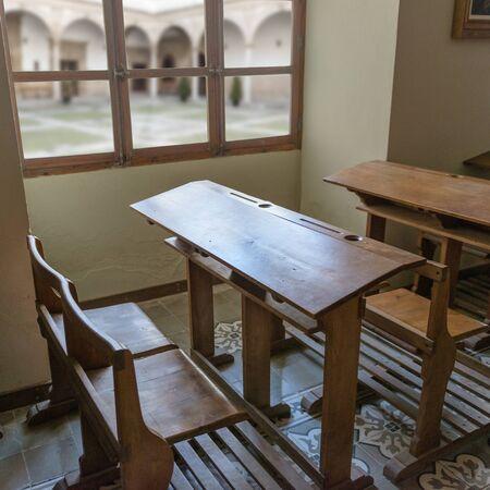 schoolroom: Vintage school classroom from early twenty century