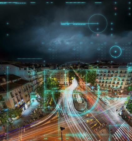 Remote camera surveillance of a city