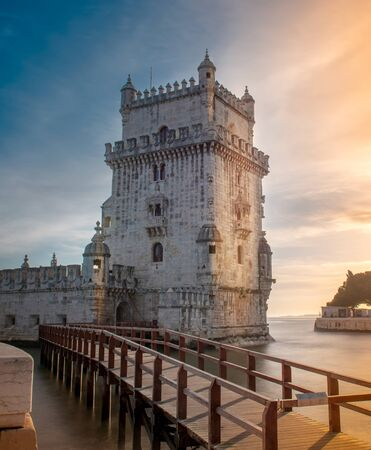 Beautiful view of Belem tower in Lisbon