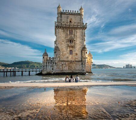 Belem tower  in Lisbon, Portugal Reklamní fotografie - 124937514