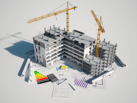 3D rendering  of a Real Estate and construction concept Stock fotó