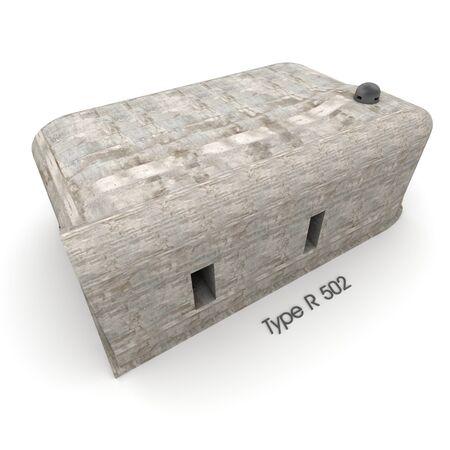3D rendering of a bunker exterior