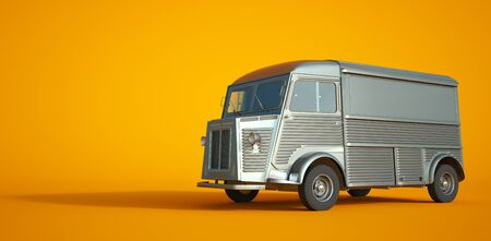 3D rendering of a small vintage truck