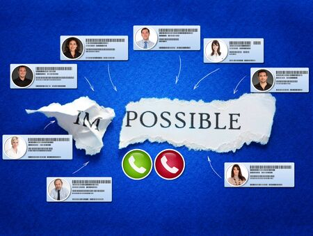 The word possible with video conference contacts Standard-Bild