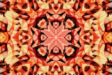 Kaleidoscope of color with beautiful ornamental - Thorough background summary - seamless 版權商用圖片