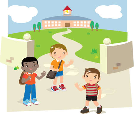 escuela edificio: Regreso a la escuela