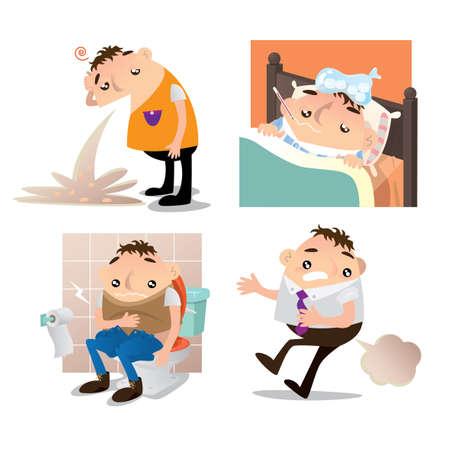 personas enfermas: MALESTAR