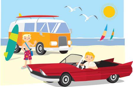 summer holiday: Go to beach