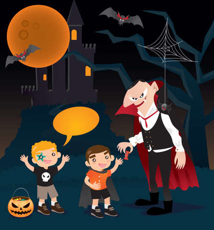trick or treat: Trick or treat!