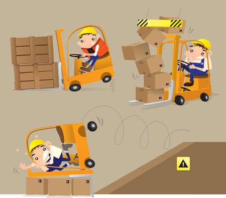 descuidado: Careless do Trabalho Ilustração