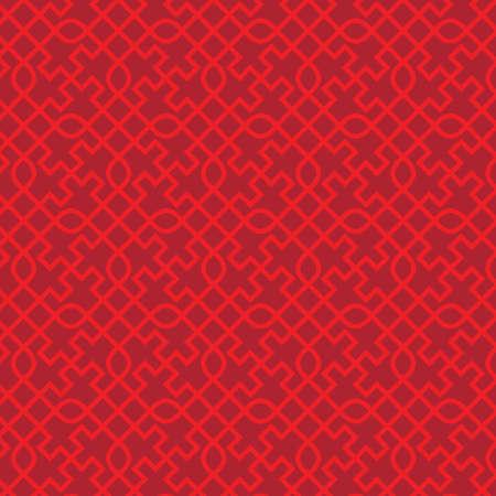 Chinese seamless knot with swastika pattern Illustration