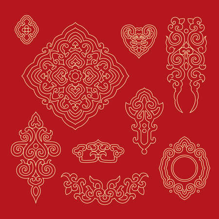 auspicious element: Chinese decorative pattern 1